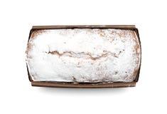 Gâteau rectangulaire vermeil Image libre de droits