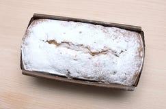 Gâteau rectangulaire vermeil Images libres de droits