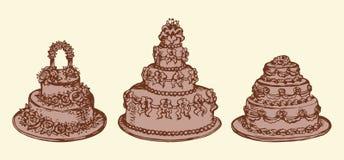 Gâteau Retrait de vecteur Images libres de droits