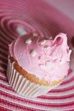 Gâteau rosâtre Photographie stock