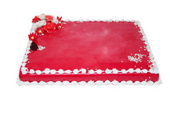 Gâteau rouge Photographie stock