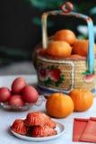 Gâteau rouge de tortue de chinois traditionnel Photo stock