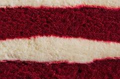 Gâteau rouge de velours de plan rapproché Image stock
