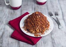 Gâteau sablé sous forme de glissières avec du cacao Image libre de droits