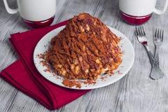 Gâteau sablé sous forme de glissières avec du cacao Photos stock