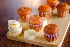 Gâteau sain de banane images libres de droits