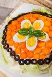 Gâteau salé de crêpe Photographie stock libre de droits