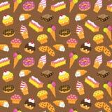 Gâteau sans couture de pâtisserie de vecteur illustration stock