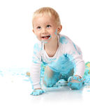 Gâteau sensationnel de bébé photos libres de droits