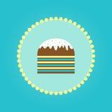 Gâteau simple 2017 de Pâques Photo libre de droits