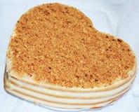 Gâteau sous forme de coeur Photographie stock libre de droits