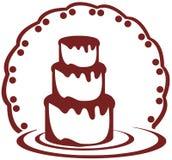 Gâteau stylisé Photos libres de droits