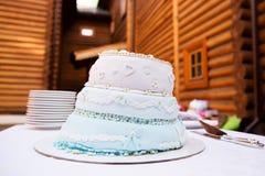 Gâteau sur la table Image libre de droits