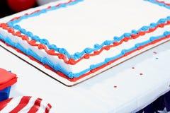 Gâteau sur la table au rassemblement d'élection Images stock