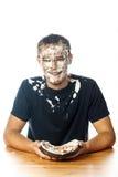 Gâteau sur le visage Image courante Photo libre de droits