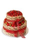 Gâteau traditionnel de fraise Photos stock