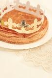 Gâteau traditionnel de Français, DES Rois de Galette Image libre de droits