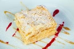 Gâteau traditionnel de Napoleon Image libre de droits