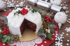 Gâteau traditionnel de Noël Image libre de droits