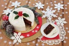 Gâteau traditionnel de Noël photos libres de droits