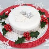 Gâteau traditionnel de Noël Image stock