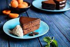 Gâteau traditionnel de Sacher photographie stock