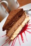 Gâteau triple de choc Image libre de droits