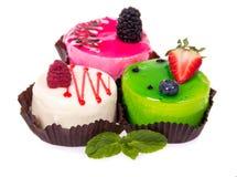 Gâteau trois frais Image stock
