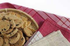 Gâteaux aux pépites de chocolat, biscuits faits maison de pâtisserie de chocolat dans a Images libres de droits