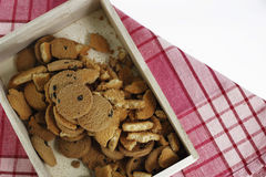 Gâteaux aux pépites de chocolat, biscuits faits maison de pâtisserie de chocolat dans a Photos stock