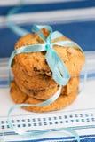 Gâteaux aux pépites de chocolat empilés Photographie stock