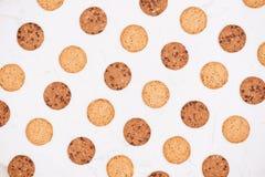 Gâteaux aux pépites de chocolat mous et caoutchouteux faits maison Vue supérieure photographie stock