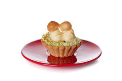 Gâteaux avec de la crème de beurre Images stock