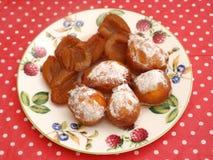 Gâteaux avec des prunes Photos libres de droits