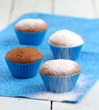 Gâteaux bleus Photographie stock libre de droits