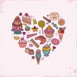 Gâteaux, bonbons et desserts Photographie stock