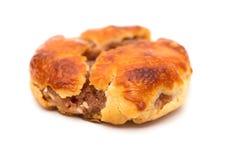Gâteaux caoutchouteux doux ou le chickee de vue de côté les mini durcit sur le blanc image stock