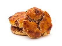 Gâteaux caoutchouteux doux ou le chickee de vue de côté les mini durcit sur le blanc photo libre de droits