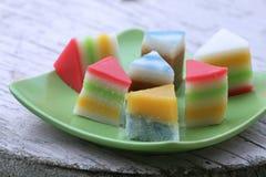 Gâteaux colorés Photos stock