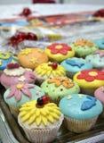 Gâteaux colorés Images stock