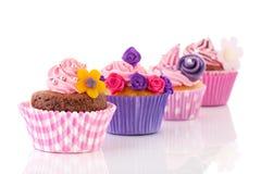 Gâteaux colorés de ligne Photo libre de droits