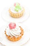 Gâteaux crémeux photo stock