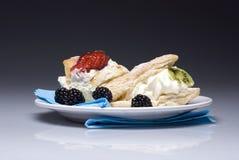 Gâteaux crémeux Images stock