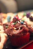 Gâteaux décorés minuscules photographie stock
