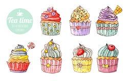 Gâteaux délicieux Photo stock