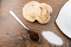 Gâteaux délicieux de massepain Images libres de droits