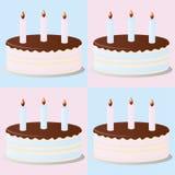 Gâteaux d'anniversaire Photo stock