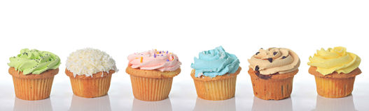 Gâteaux d'anniversaire Photographie stock