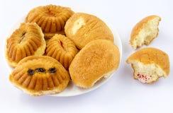 Gâteaux d'oeufs Photos libres de droits