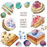 Gâteaux de baie illustration libre de droits